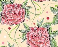 Fundo sem emenda das rosas Imagens de Stock Royalty Free
