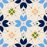Fundo sem emenda das silhuetas das flores Imagem de Stock Royalty Free
