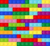 Fundo sem emenda de alta qualidade de tijolos plásticos coloridos ilustração do vetor
