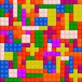 Fundo sem emenda de alta qualidade de tijolos plásticos coloridos ilustração royalty free