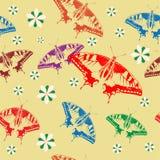 Fundo sem emenda de borboletas coloridas. Fotos de Stock Royalty Free
