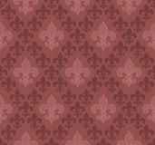 Fundo sem emenda de Fleur De Lis da cor do Marsala Imagens de Stock Royalty Free