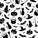 Fundo sem emenda de Halloween Ilustração do vetor Imagens de Stock