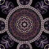 Fundo sem emenda de Paisley, teste padrão floral Ornamento indiano decorativo colorido Fotos de Stock
