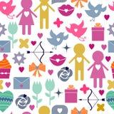 Fundo sem emenda Dia do Valentim s Fotos de Stock Royalty Free