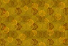 Fundo sem emenda do às bolinhas do marrom amarelo do vintage Imagem de Stock Royalty Free