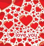 Fundo sem emenda do amor Fotografia de Stock Royalty Free