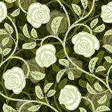 Fundo sem emenda do branco da rosa do sumário Imagem de Stock Royalty Free