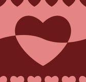 Fundo sem emenda do coração ilustração stock