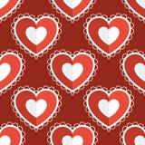 Fundo sem emenda do coração do amor do divertimento Fotografia de Stock Royalty Free