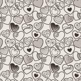 Fundo sem emenda do coração do amor do divertimento Foto de Stock Royalty Free