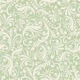 Fundo sem emenda do damasco no estilo do verde Fotos de Stock Royalty Free