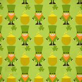 Fundo sem emenda do dia de St.Patricks Imagem de Stock Royalty Free
