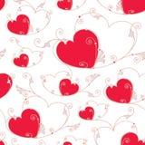 Fundo sem emenda do dia de Valentim com corações ilustração do vetor