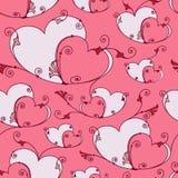 Fundo sem emenda do dia de Valentim com corações ilustração stock