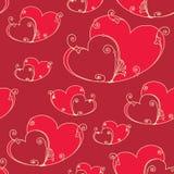 Fundo sem emenda do dia de Valentim com corações ilustração royalty free