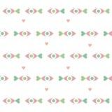 Fundo sem emenda do dia de Valentim Teste padrão pastel do feriado ilustração do vetor