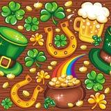Fundo sem emenda do dia do St. Patrick Fotos de Stock