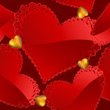 Fundo sem emenda do dia do Valentim com corações Imagem de Stock Royalty Free