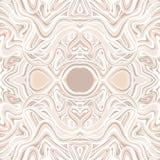 Fundo sem emenda do Doodle Teste padrão de Zentangle Textura do desenho da mão Elementos psicadélicos da onda do caleidoscópio ilustração royalty free