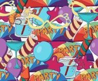 Fundo sem emenda do feriado bonito Pancadinha tirada mão ilustração royalty free
