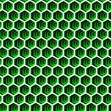 fundo sem emenda do hexágono em verdes e no branco 102 Foto de Stock Royalty Free