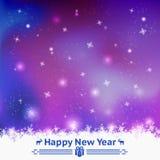 Fundo sem emenda do inverno Ano novo feliz ilustração royalty free