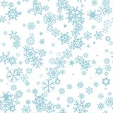 Fundo sem emenda do inverno com flocos de neve ilustração do vetor