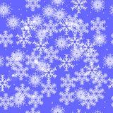Fundo sem emenda do inverno com flocos de neve Imagens de Stock Royalty Free