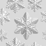 Fundo sem emenda do inverno com flocos de neve Feriado de inverno e fundo do Natal Fotografia de Stock
