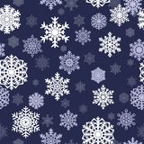 Fundo sem emenda do inverno com flocos de neve Feriado de inverno e fundo do Natal Imagem de Stock Royalty Free