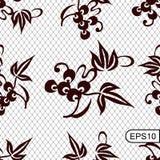 Fundo sem emenda do laço com elemento floral chinês tradicional Ilustração do vetor fotografia de stock royalty free