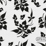 Fundo sem emenda do laço com elemento floral chinês tradicional Ilustração do vetor foto de stock