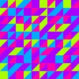 Fundo sem emenda do meio triângulo quadrado de néon Imagem de Stock