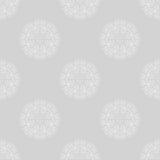 Fundo sem emenda do motivo floral cinzento Fotos de Stock