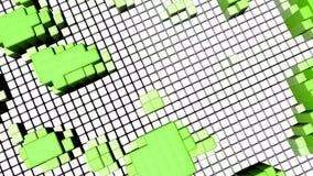 Fundo sem emenda do movimento do laço com formas geométricas coloridas brilhantes video estoque