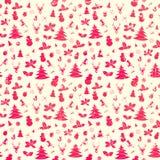 Fundo sem emenda do Natal Fotografia de Stock Royalty Free