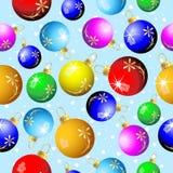 Fundo sem emenda do Natal com bolas coloridas ilustração stock