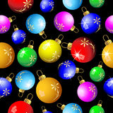 Fundo sem emenda do Natal com bolas coloridas ilustração do vetor