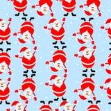 Fundo sem emenda do Natal com Santa Claus ilustração royalty free