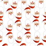 Fundo sem emenda do Natal com Santa Claus ilustração stock