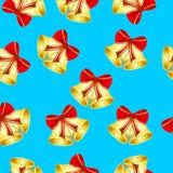 Fundo sem emenda do Natal com sinos ilustração stock