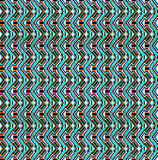 Fundo sem emenda do ornamento geométrico com ondas azuis Imagem de Stock Royalty Free