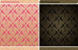 Fundo sem emenda do papel de parede do vintage da decoração Imagens de Stock Royalty Free