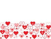 Fundo sem emenda do sumário do amor do teste padrão. Foto de Stock