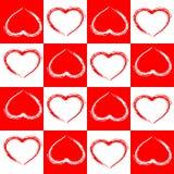 Fundo sem emenda do sumário do amor do teste padrão. Fotografia de Stock