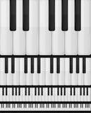 Fundo sem emenda do teclado de piano Fotos de Stock Royalty Free
