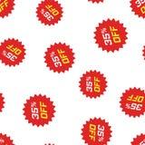 Fundo sem emenda do teste padrão do ícone da etiqueta do disconto Negócio concentrado ilustração stock