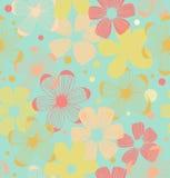 Fundo sem emenda do teste padrão bonito floral com flores ilustração stock