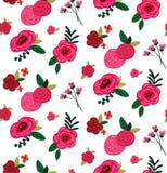 Fundo sem emenda do teste padrão do bouquete das rosas do vetor ilustração do vetor